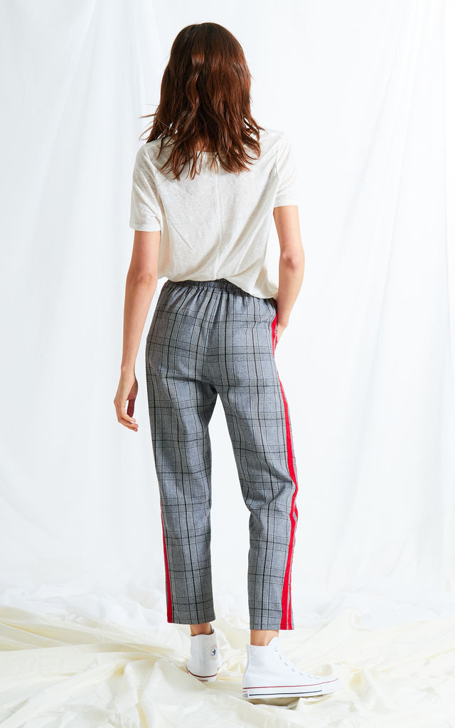 Prince of Wales Sport Stripe Cigarette Pants by Neon Rose