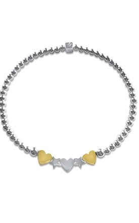 NEW HAYLEY HEARTS YELLOW GOLD by LL Loves UK Jewellery