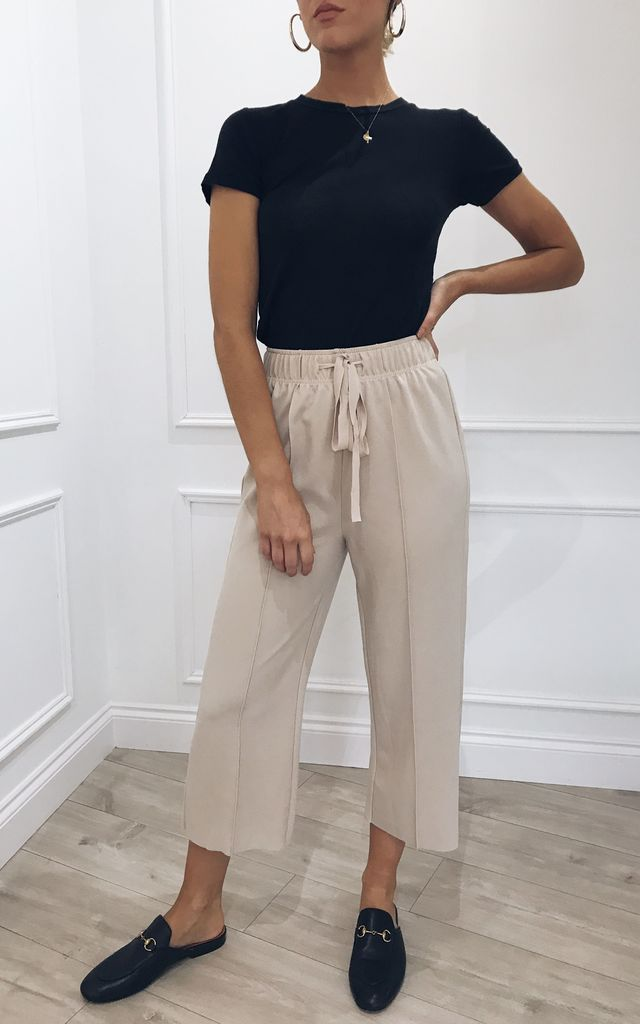 Carter Culottes - Beige by Pretty Lavish