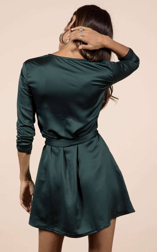 MARLEY DRESS IN PINE GREEN image