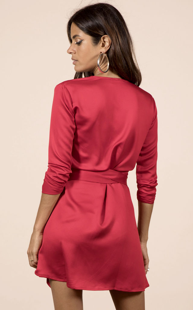 MARLEY WRAP DRESS IN RED image