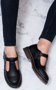 SNATCHED Adjustable Buckle Flat Shoes - Black Synthetic by SpyLoveBuy