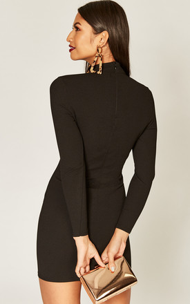 Black choker cut out detail dress by Phoenix & Feather