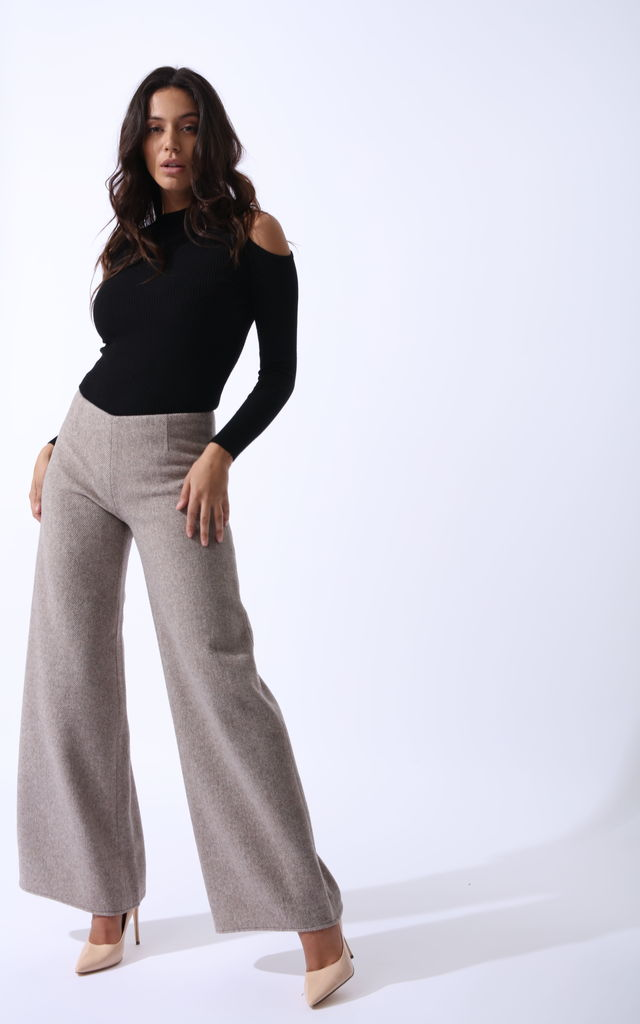 Sahara Trousers In Cashmere Wool by Zalinah White