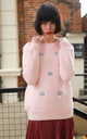 Long Sleeve Fluffy Jumper with Cloud Design in Light Pink by CY Boutique