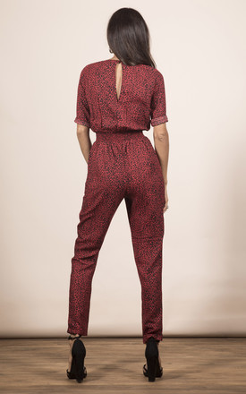 ZION JUMPSUIT IN RED LEOPARD by Dancing Leopard