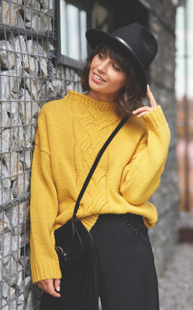 Yellow Front Braid Classic Jumper by MOE