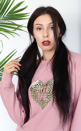 BITE ME Leopard Print Sweatshirt by Tallulah's Threads