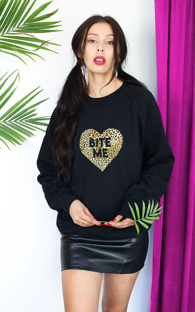 Leopard Print Slogan Sweater by Tallulah's Threads