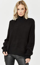 Black High Neck Hole Knit Top by Noisy May