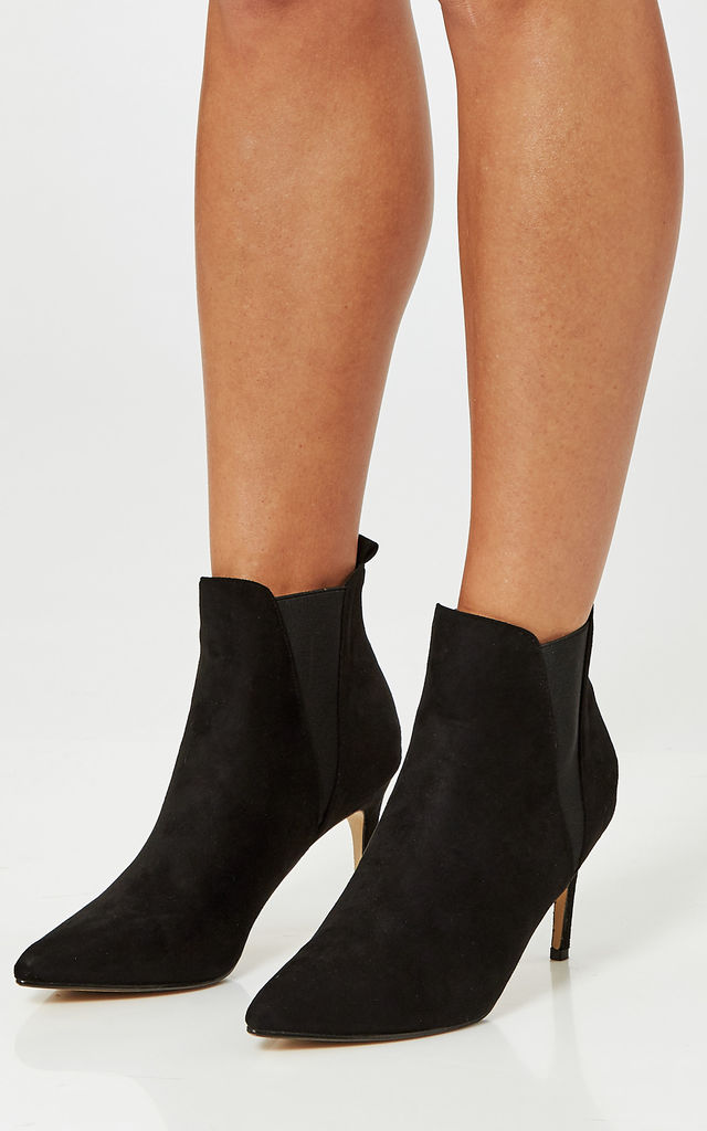 Black Faux Suede Ankle Boots by Truffle Collection