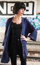 Longline Knitted Cardigan with Pockets in Blue by CY Boutique