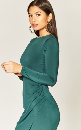 Forest Green Asymmetric Dress by Phoenix & Feather