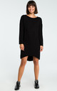 Black Long Back Knit Dress by MOE