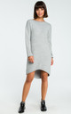 Grey Long Back Knit Dress by MOE
