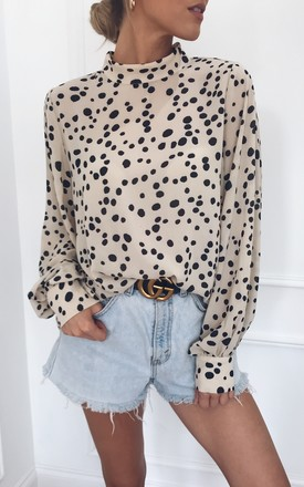 Ambre Blouse Leopard Print Cream by Pretty Lavish Product photo