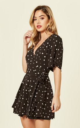 Short Sleeve Polka Dot Playsuit by Oeuvre