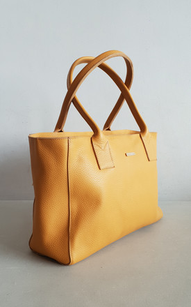SMOOTH BOWLING MUSTARD by THE CODE HANDBAGS