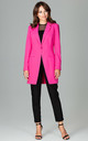 Longline Blazer with Single Button in Fuchsia by LENITIF