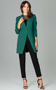 Green Longline Blazer with Single Button by LENITIF
