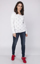 Openwork sweater with a neckline at the back - white by MKM Knitwear Design