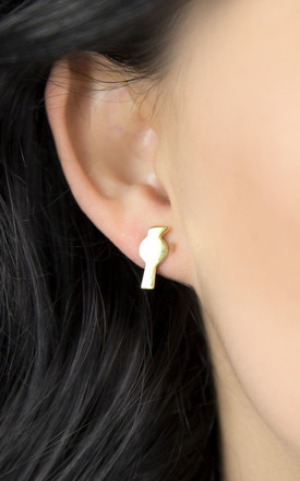 Gold Plated Sterling Silver Petite Bird Earrings by Martha Jackson Jewellery