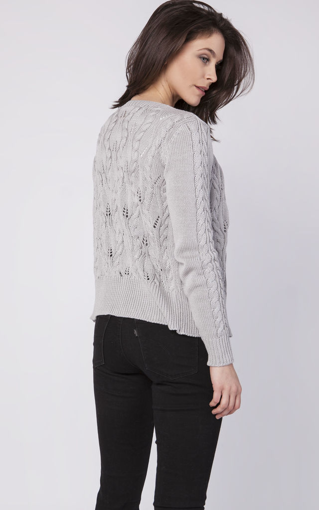 Classic sweater - grey by MKM Knitwear Design