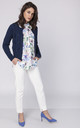 Classic cardigan in navy by MKM Knitwear Design
