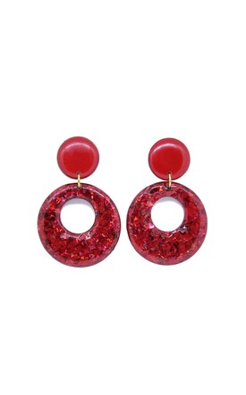 Red Aphrodite Dangles by Lual Earrings