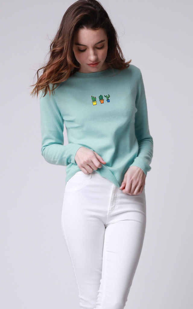 Cashmere Cactus Friends Jumper by UltraTee