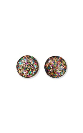 Rainbow Sparkle Stud Earrings by Lual Earrings