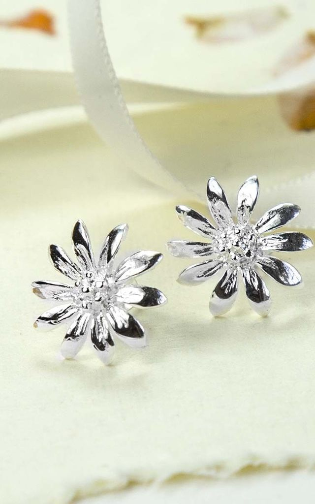 e4a6a46c2 Sterling Silver Daisy Stud Earrings | Martha Jackson Jewellery ...