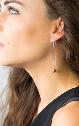 Sterling Silver And Rose Gold Threader Earrings by Martha Jackson Jewellery