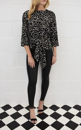 The Rae Shirt in Animal Print by Kiss Kiss