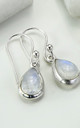 Sterling Silver Moonstone Teardrop Earrings by Martha Jackson Jewellery