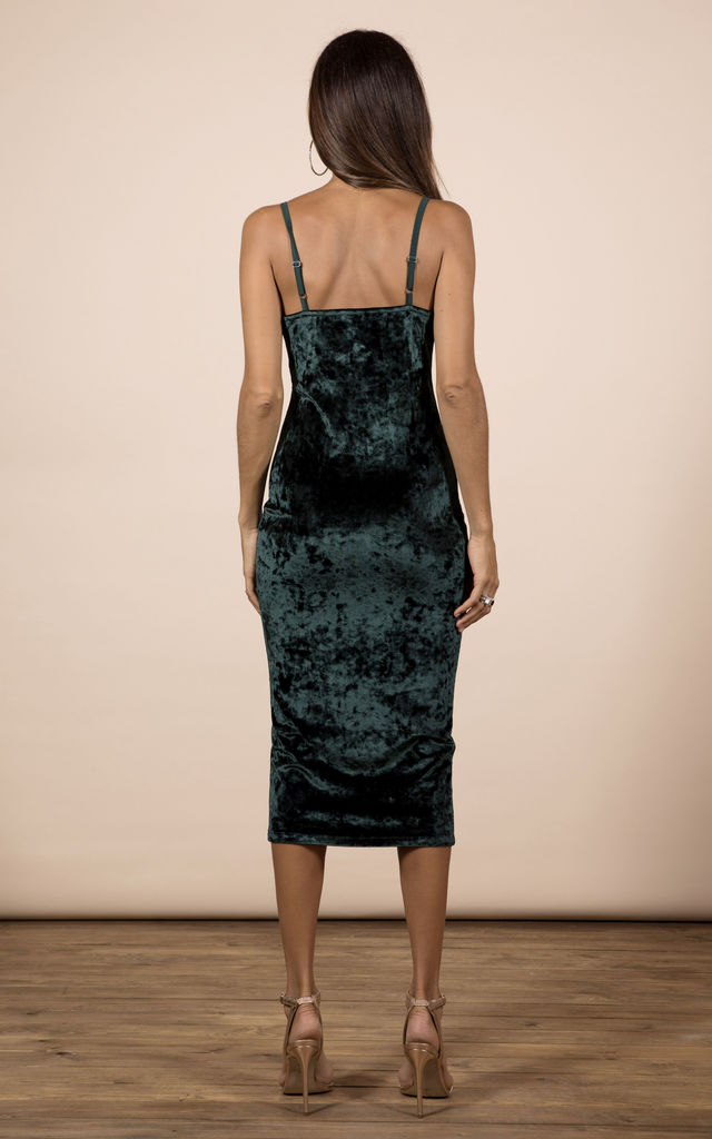 Cici Midi Cami Dress in Pine Green image