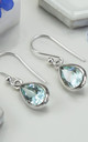 Sterling Silver Blue Topaz Teardrop Earrings by Martha Jackson Jewellery
