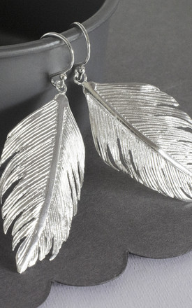 Gold Plated Forget MeSterling Silver Angelic Feather Earrings Not Cluster Necklace by Martha Jackson Jewellery