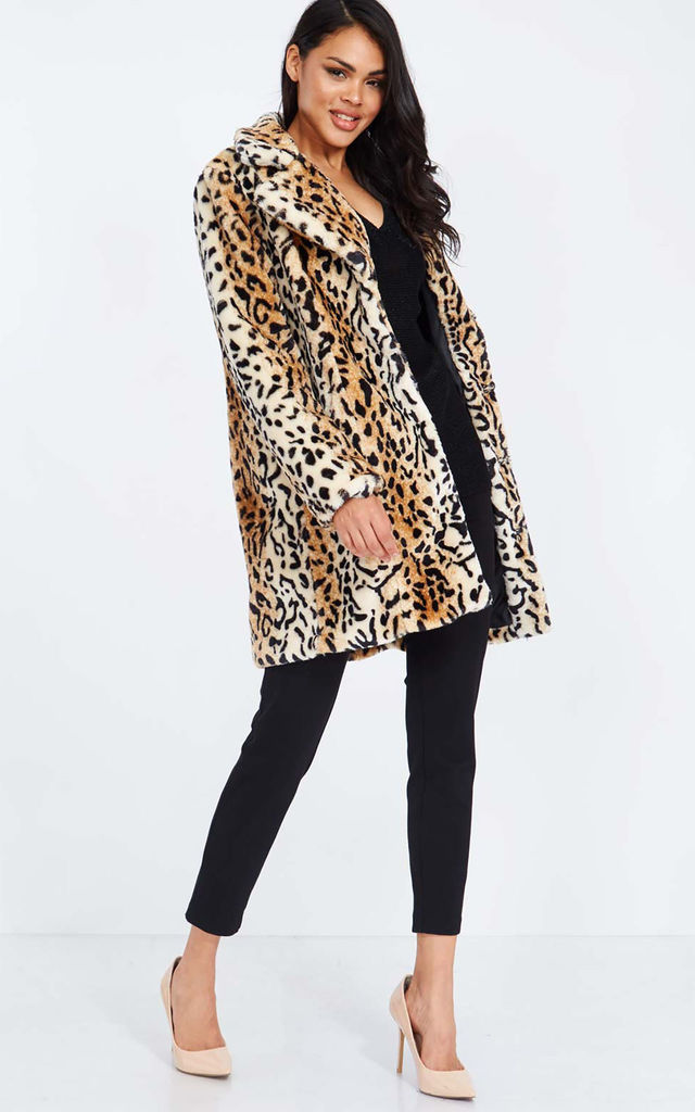 LEA – Soft Touch Leopard Fur Coat by Blue Vanilla