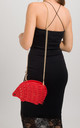 Red Hedgehog Studded Faux Leather Crossbody Bag by KoKo Couture