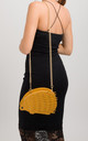 Mustard Hedgehog Studded Faux Leather Crossbody Bag by KoKo Couture