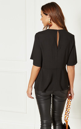 Black Top With Twist Front Detail by Bella and Blue