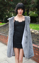 Faux Fur Oversized Longline Gilet with Hood in Grey by CY Boutique