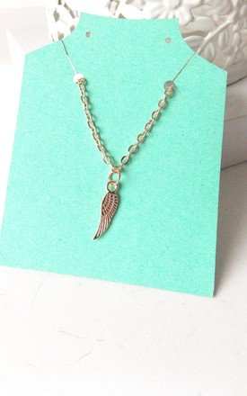Rose Gold Angel Wing Necklace by Olivia Divine Jewellery