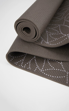 Espresso Dotted Lotus Yoga Mat by Calmia