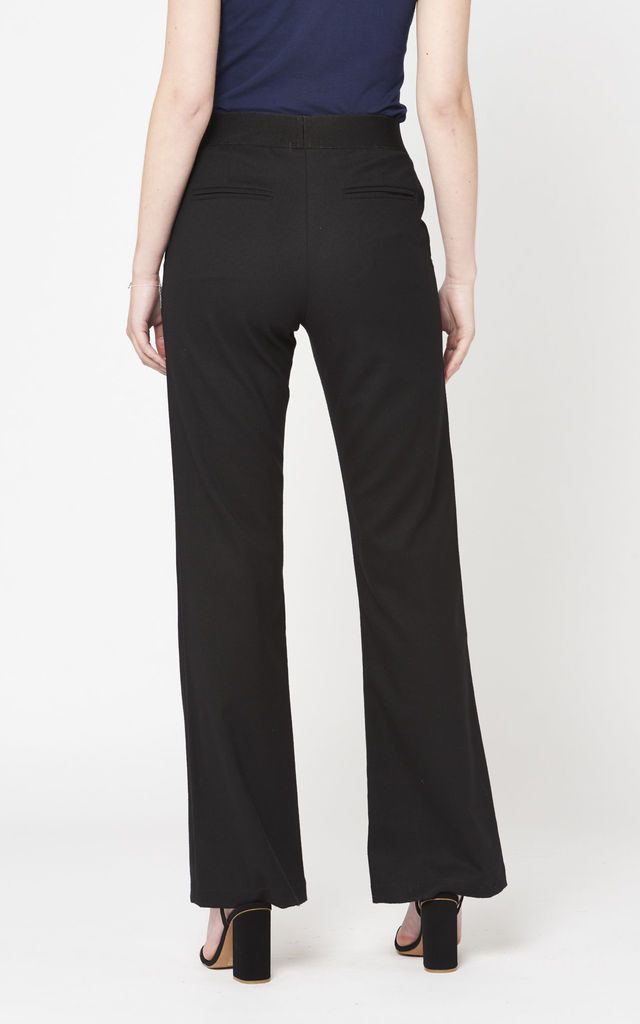 Wide Leg Black Trousers by Two For Joy