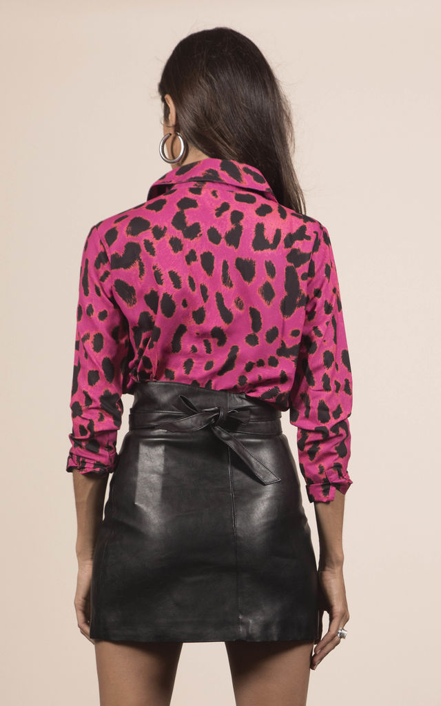 San Diego Shirt In Pink Leopard image