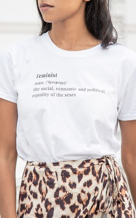 Chimamanda Feminist Definition Slogan T Shirt by Rani & Co. Product photo
