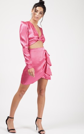 Kylie Satin Co-ord In Fuchsia by Vivichi