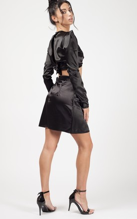 Kylie Satin Co-ord In Black by Vivichi